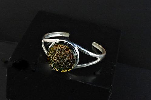 B022 Rootbeer Round Glass Bracelet
