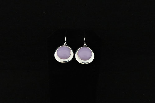 E109 Lilac Round Earrings