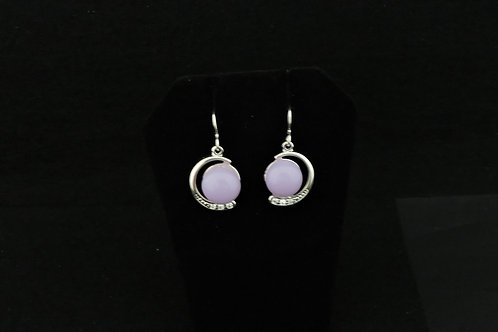 E121 Lilac Crescent Earrings