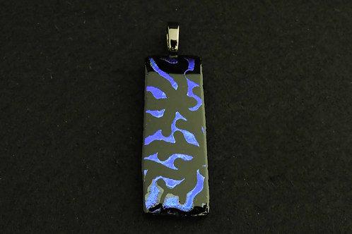 P405 Deep Blue Etched Pendant