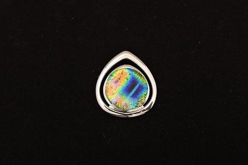 P171 Double Rainbow Teardrop Pendant