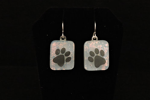 A51 Splatter Paw Earrings