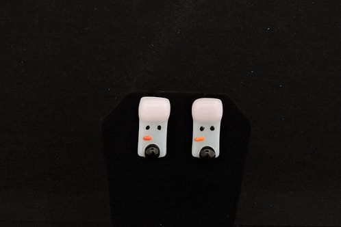 H51 Pink & Black Snowdude Post Earrings
