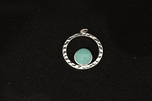 P446 Turquoise Round Pendant