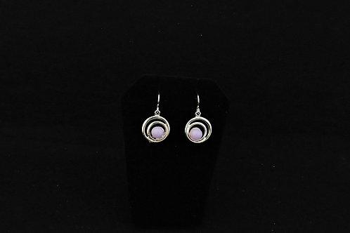 E104 Lilac Swirl Earrings