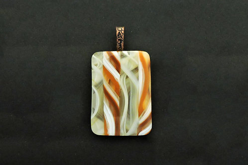 P091 Amber, Vanilla, White & Clear Pendant