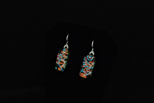 E049 Copper Ivy Earrings