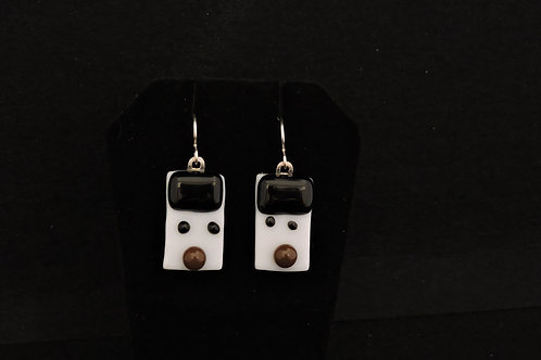 H55 Black & Brown Snowdude Earrings