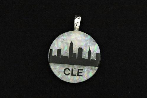 O039 Cleveland Skyline/CLE Pendant