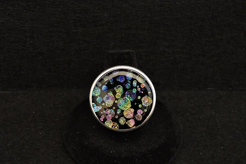 R9 Double Bubbles Large Round Ring