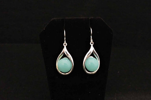 E081 Turquoise Drop Earrings