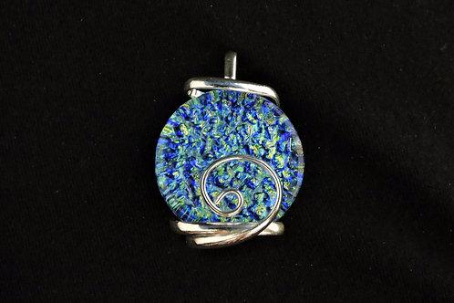 P131 Sea Blue Round Pendant