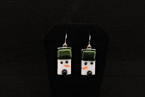 H56 Sparkle Green Snowdude Earrings