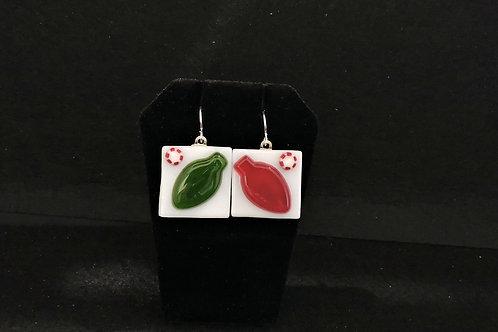 H41 Christmas Bulb Earrings
