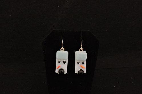 H50 Baby Blue & Black Snowdude Earrings
