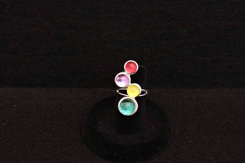 R10 Multi Color Dot Ring