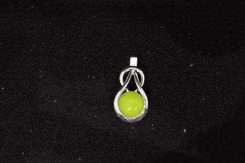 P454 Spring Green Knot Pendant