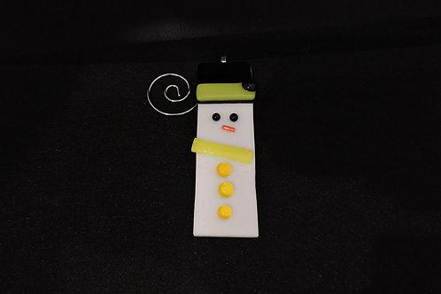 H10 Bright Yellow Snowdude Ornament