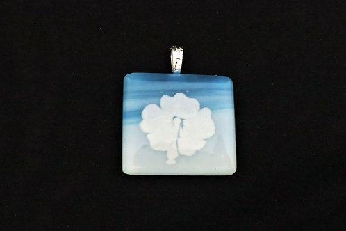 P322 Blue Sky Flower Pendant