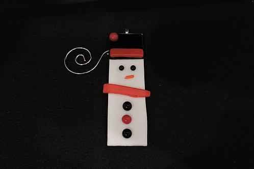 H12 Red & Black Snowdude Ornament