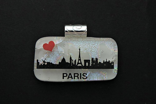 L010 I Love Paris Pendant