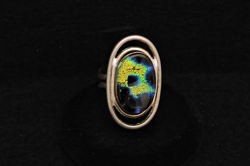 R17 Gold Splatter Oval Ring