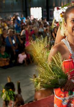 A traditional Orang Asli sewang performance during the International Day of The World's Indigenous Peoples Celebration at Kampung Pian, Pahang.