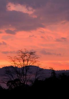 Sunset in the Crocker Range, Sabah.