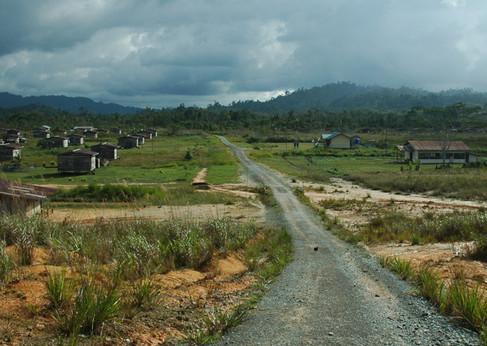 Kampung Gana resettlement site in Sabah.
