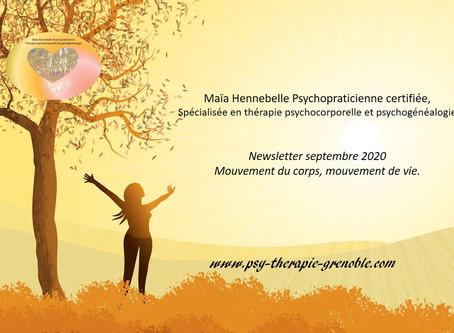 HENNEBELLE Maïa Psychothérapie Grenoble : les bienfaits du mouvement en thérapie psychocorporelle