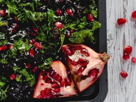 Kale, Pomegranate and Parmesan Salad