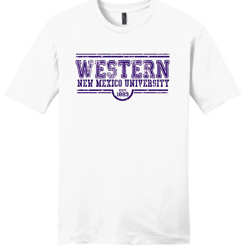 Western Est White tee