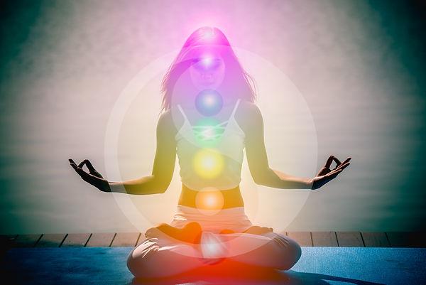 Yoga meditation hands woman in yoga lotu