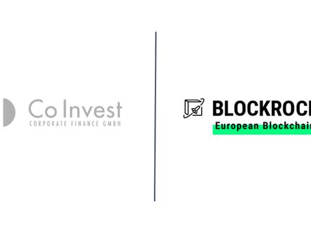 CoInvest Corporate Finance accelerates blockchain as BLOCKROCKET member