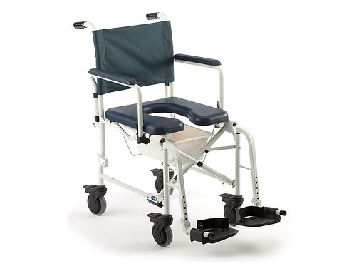 Invacare Mariner Rehab Shower Wheelchair, with Commode Opening, 300 lb. Weight