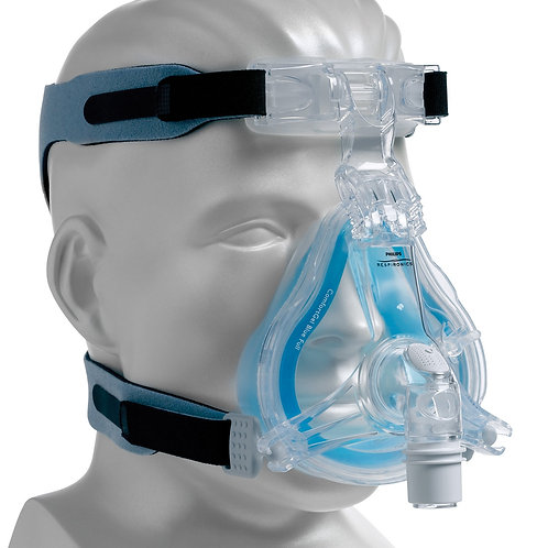 ComfortGel BLUE Full Face CPAP & BiPAP Mask with Adjustable Headgear.