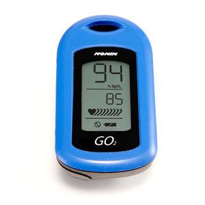 GO2 9570 Fingertip Pulse Oximeter, Blue