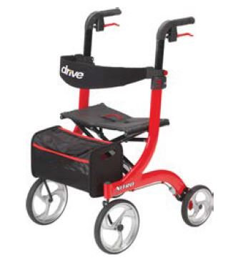 Nitro Rollator - Red Frame - Tall (Weight Limit 300 lbs)