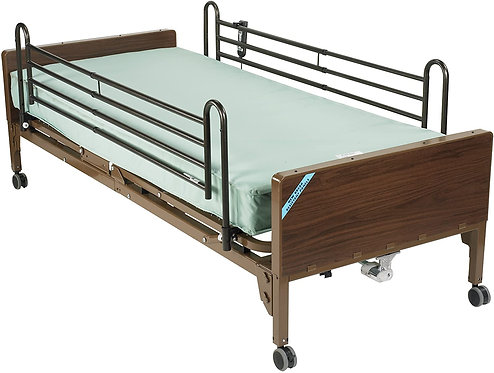 Drive Medical Delta Ultra Light Semi Electric Bed Therapeutic Support Mattress