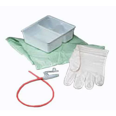 Bard Tracheal Suction Latex Rubber Catheter Two Glove Kit