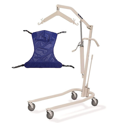 Invacare 9805P Personal Hydraulic Patient Body Lift Kit with Full Body Mesh