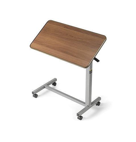 Invacare Overbed Table, with Tilt Top, Height Adjustable, 6418