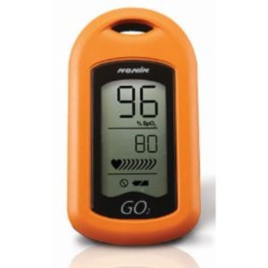 GO2 9570 Fingertip Pulse Oximeter, Orange