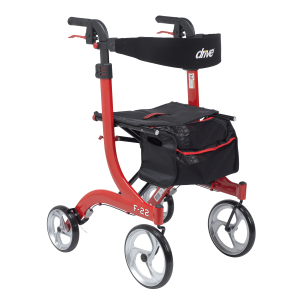 F22 Rollator - Red - Tall (Weight Limit 300 lbs)