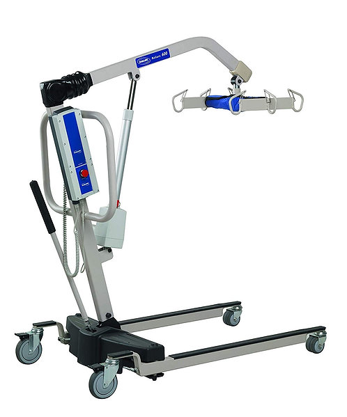 Invacare Reliant Heavy-Duty Battery-Powered Patient Lift with Manual Low Base, 6
