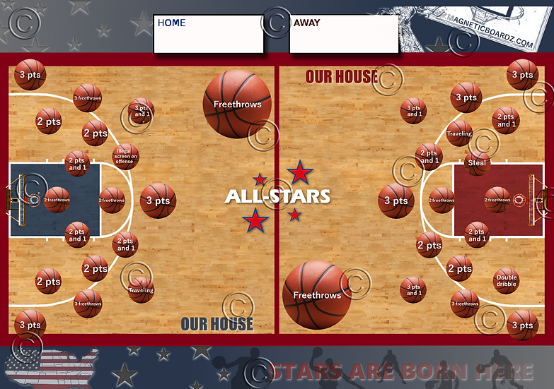 Mini Basketball Darts 15 1/2 x 23 3/4