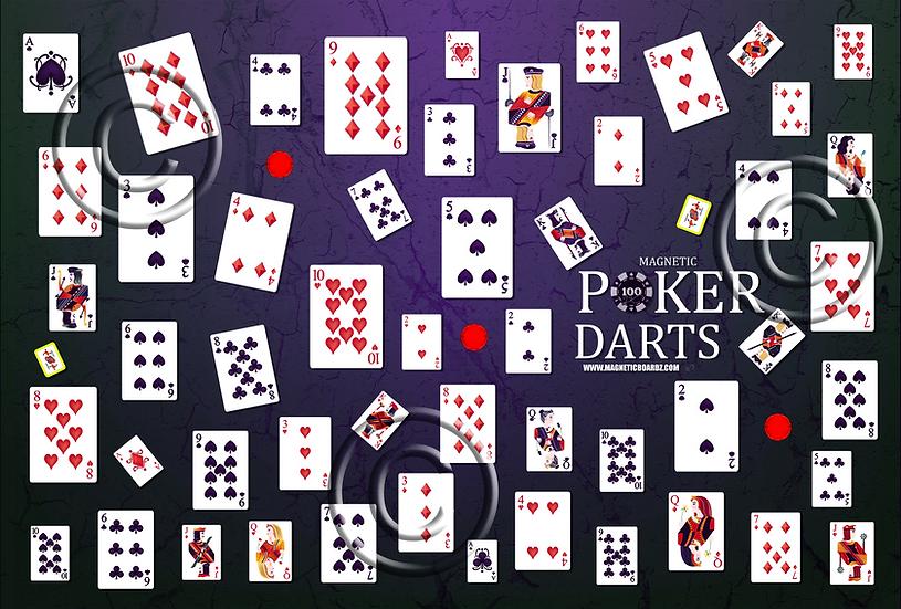 Cracked Poker Darts 15 1/2 x 23 3/4