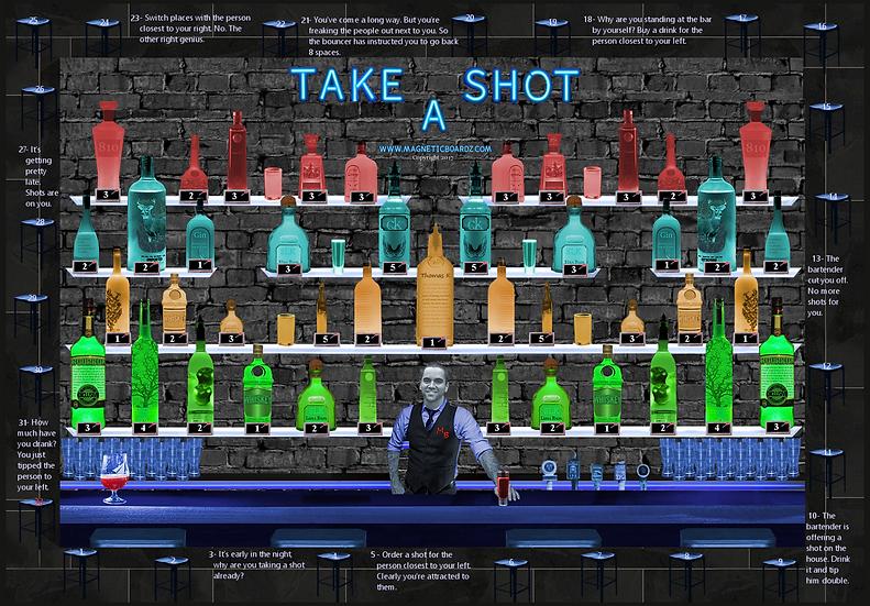 Mini TAKE-A-SHOT (optional bartender change) 15 1/2 x 23 3/4