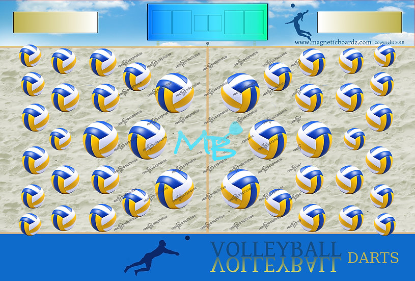 Mini Sand Volleyball Darts 15 1/2 x 23 3/4