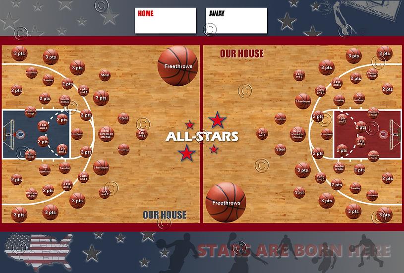 Basketball Darts 24x38